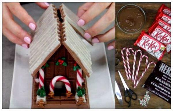 Φτιάξτε Χριστουγεννιάτικο Σοκολατόσπιτo! Χριστούγεννα Σοκολατόσπιτο σοκολάτα