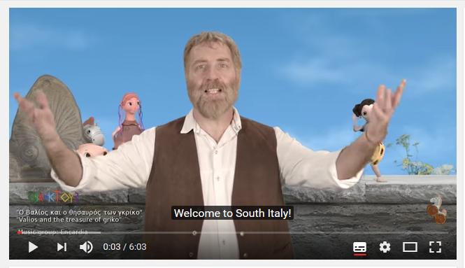 Ένα βίντεο που εξηγεί στα παιδιά την πολιτιστική κληρονομιά των ελληνόφωνων της Νότιας Ιταλίας παιδικές σειρές