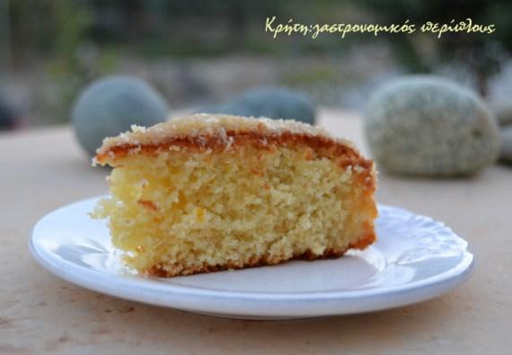 Συνταγή: Κέικ καρύδας με γλάσο καρύδας πορτοκαλιού ή λεμονιού κέικ