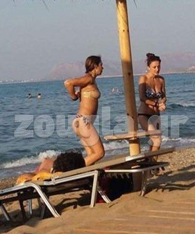 Η sexy Μελίνα Ασλανίδου σε παραλία των Χανίων! Χανιά Μελίνα Ασλανίδου