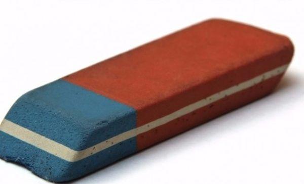 Το μπλε κομμάτι της γομολάστιχας έχει άλλη χρήση από αυτή που νομίζουμε!!! σχολείο γομολάστιχα