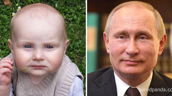 Δείτε τα μωρά που μοιάζουν με διασήμους - Απίστευτο!!!