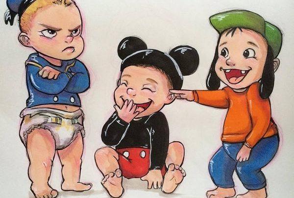 Πώς ήταν οι χαρακτήρες Disney ως παιδιά; 37 σκίτσα αποκαλύπτουν disney