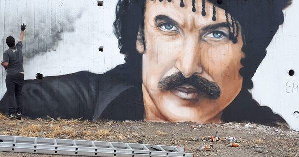 Εκπληκτικό γκράφιτι στη Κρήτη απεικονίζει τον Νίκο Ξυλούρη! Νίκος Ξυλούρης Κρήτη γκράφιτι Ανώγεια Αλέξανδρος Ραπτάκης