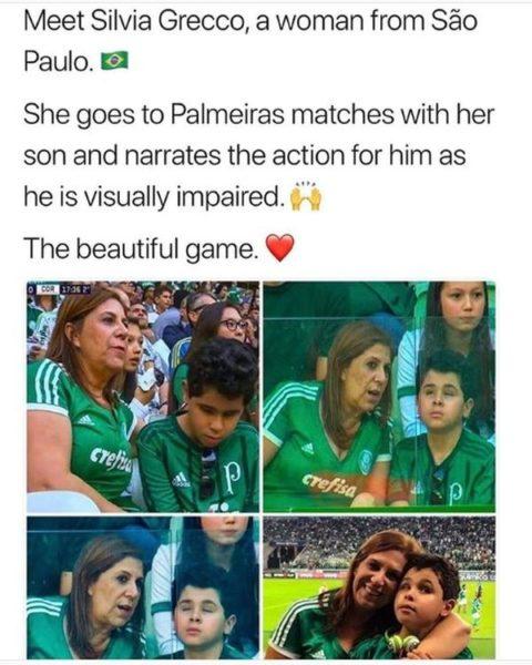 Μητέρα πηγαίνει στο γήπεδο με το τυφλό και αυτιστικό παιδί της! Βραζιλία αυτισμός
